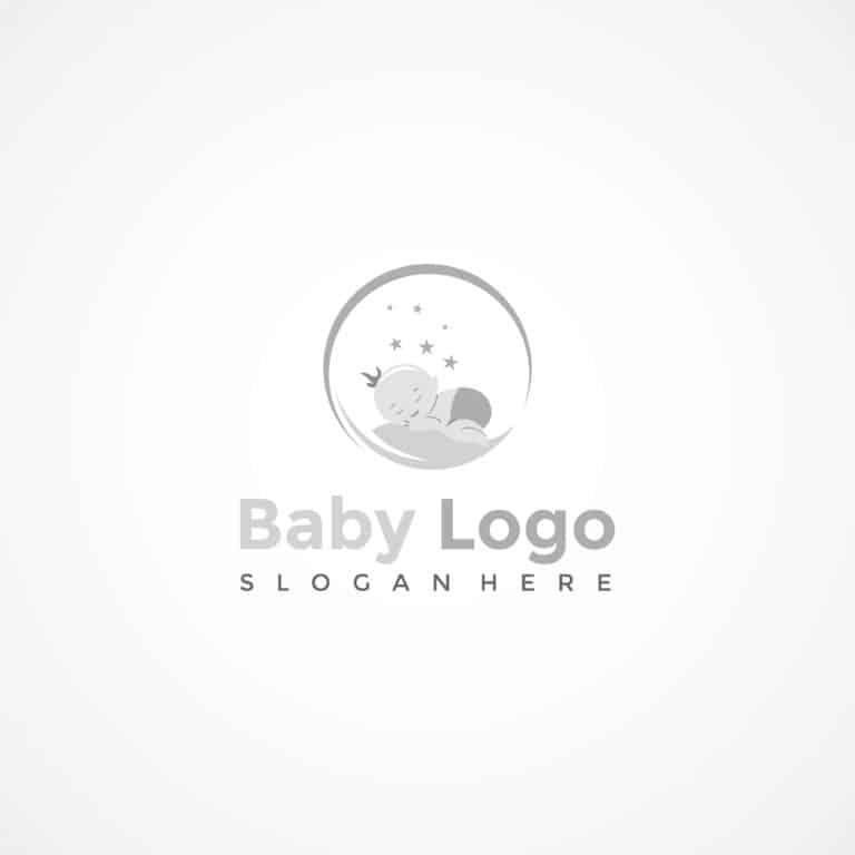 Baby Sleep Logo Template. Vector Illustrator Eps.10